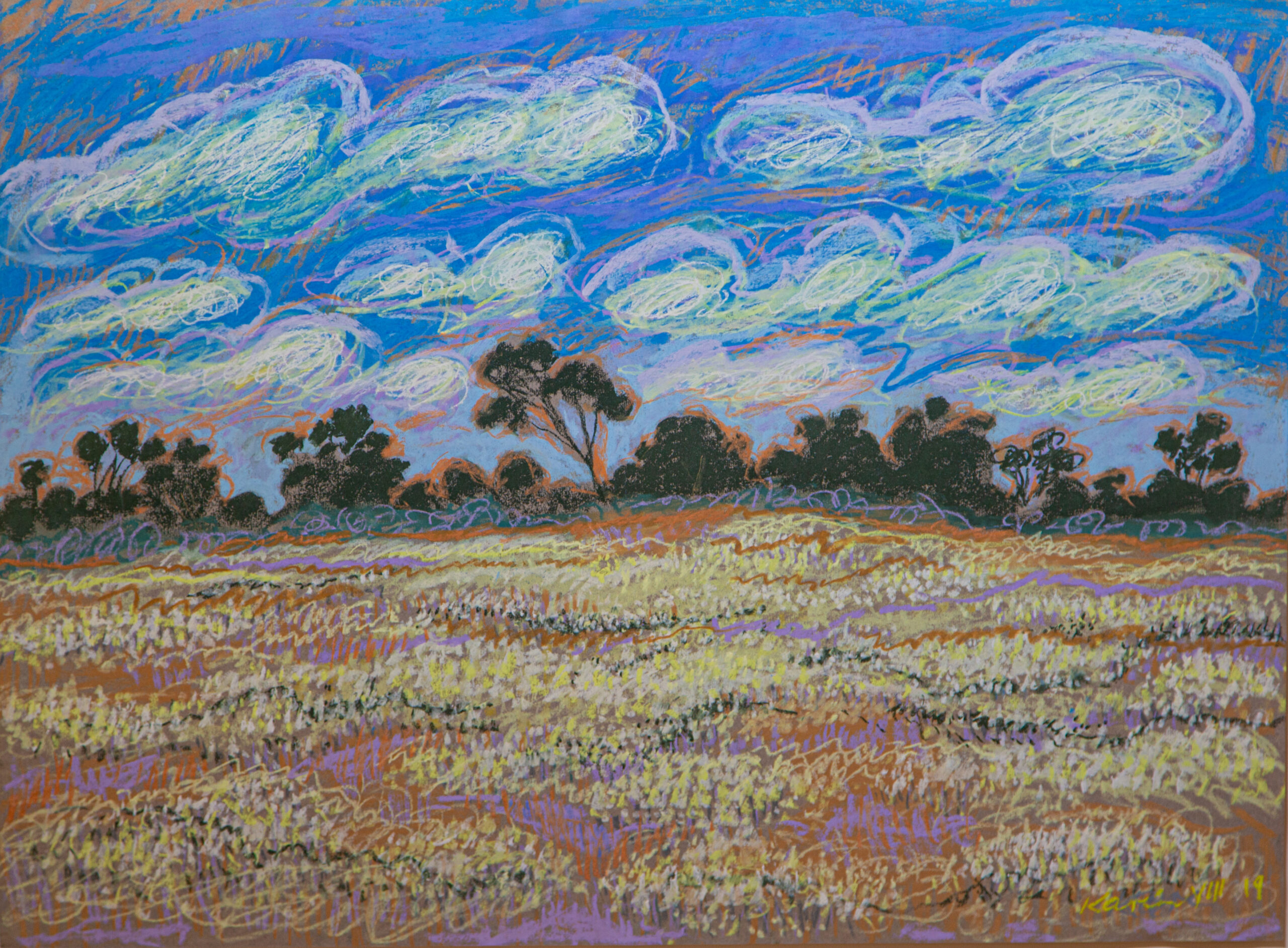 CLOUDS AND DAISIES artwork